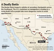 map usa mexico border near the u s mexico border a grim new reality wsj