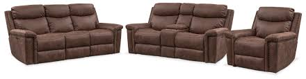 Sofa Recliner Set Montana Dual Power Reclining Sofa Reclining Loveseat And Recliner