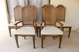 stanley dining room sets items similar to vintage stanley furniture cane back chair set on