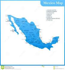 Map Mexico by The Detailed Map Of The Mexico With Regions Or States And Cities