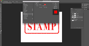how to make a rubber stamp text effect using photoshop