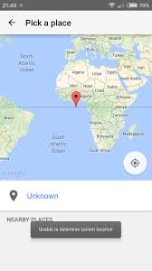 Mali Location On World Map by Java Placepicker For Android Cannot Get Current Location Stack
