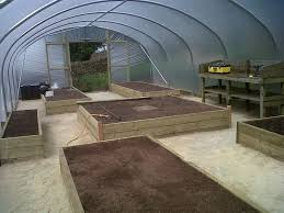 raised bed vegetable garden layout raised beds layout idea for an 18ft x 42ft polytunnel www