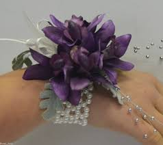 silk corsages silk corsages silk wedding flower purple orchid wrist corsage