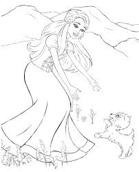 barbie coloring pages 11 print color free