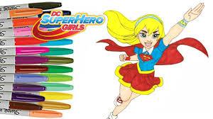 dc superhero girls coloring book supergirl color