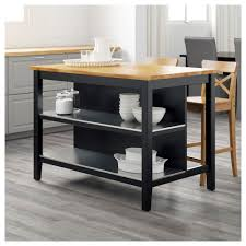 decor black stenstorp kitchen island with wood top and stool for