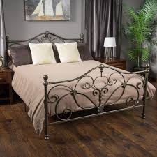 King Size Metal Bed Frames Kelford Chagne Iron Metal Bed Frame King Size Shopbedroom Net