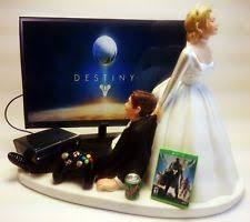 xbox cake topper me and groom wedding cake