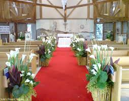 download church wedding flower arrangements wedding corners
