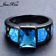 aliexpress buy junxin new arrival black aliexpress buy junxin unique blue opal ring