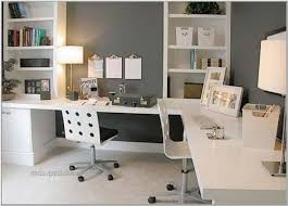 Home Office Desks For Two Interior Home Office Ideas Two Tier Desk For Amazing