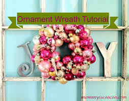 how to make a ornament wreath detailed tutorial