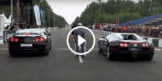 bugatti vs drag race bugatti veyron vs nissan gt r ekutec epic 1 mile drag