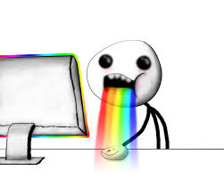 Drooling Rainbow Meme - realistic puking rainbows puking rainbows know your meme