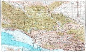 Map Of Los Angeles Area by Download Topographic Map In Area Of Los Angeles Oxnard Santa