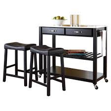Kitchen Table With Stainless Steel Top - crosley kitchen island set with stainless steel top u0026 reviews