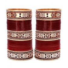 wedding chura online buy lucky jewellery maroon bridal punjabi choora wedding chura