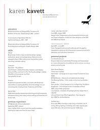 how to design a resume u2013 karen kavett