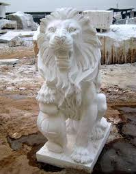 marble lion marble lion statues marble statuary carved animal