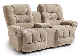 Leather Reclining Sofa With Console by Furniture Loveseat With Console To Make A High Style For Your
