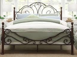 Metallic Bed Frame Pop And Vintage Steel Bed Frame Inspirations Bedroom Antique White