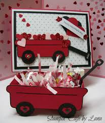 stampin u0027 cafe by lana valentine wagon and card