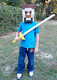 Minecraft Costume How To Make A Minecraft Costume Easy No Sew Diy Tip Junkie