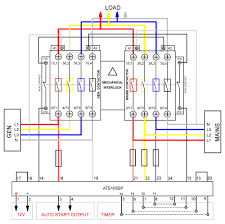 3 phase manual changeover switch wiring diagram generator on