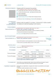 europass curriculum vitae cv europass download in english cv