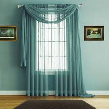 Sheer Teal Curtains Warm Home Designs Sea Green Window Scarves Sheer Green Teal