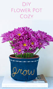 embroidered flower pot cozy u2014 a charming project