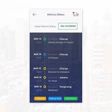 Jne Tracking Delivery Status Or Tracking App Concept For Jne Ui Ux App Ios