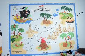 creating children s murals turning a hobby into a line of work stephanie cooper created this treasure map for her son s wall