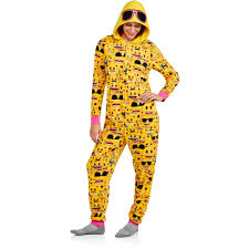 onesies for adults halloween emoji women u0027s and women u0027s plus license sleepwear onesie