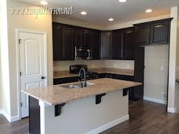 Kitchen With Brown Cabinets Kitchen Black Kitchen Cabinets Cabinet Colors Grey And White