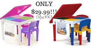 tot tutors table and chair set tot tutors 2 in 1 construction table 2 chair set only 29 99 reg