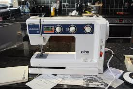 elna su air electronic swiss made sewing machine c w tools manual