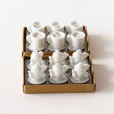 candle favors candle favors tea cup and teapot candles tea cup tea light holders