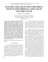 Doc 575709 Simple Vendor Agreement Site Selection For Solid Waste Disposal In Vellore Taluk Using