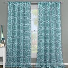 Sheer Teal Curtains Light Teal Sheer Curtains Wayfair