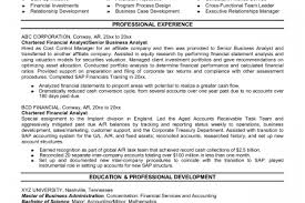 Best Financial Analyst Resume by Resume Address Icon Reentrycorps
