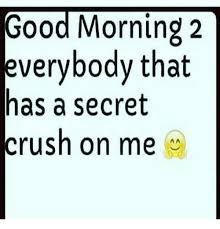 Secret Crush Meme - good morning everybody meme impremedia net