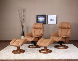 general leather recliner chair and ottoman