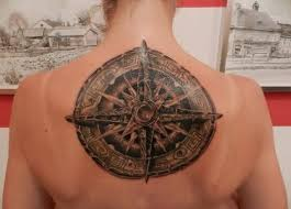 compass tattoo under breast brilliant upper back awesome compass tattoo for passionate women