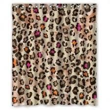 Animal Shower Curtains Leopard Print Shower Curtain Foter