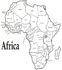 africa map black and white country map clipart black and white clipground