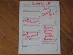 how to organize your back to schedule work life peace
