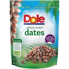 dole fruit snacks dole healthy snacks california chopped dates fruit from strack