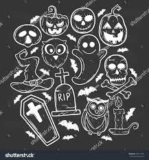 owl halloween background set halloween elements pumpkin owl candle stock vector 459121408